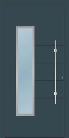 דלת כניסה 1235-RAL-7026 - טקני דור