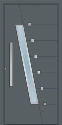 דלת כניסה 1661-ral-7012 - טקני דור