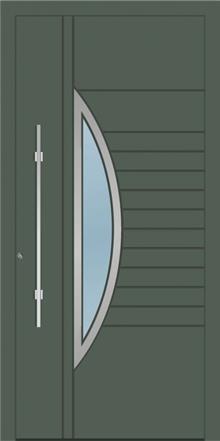 דלת כניסה 1762-RAL-7010 - טקני דור