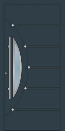 דלת כניסה 1671-ral-7016 - טקני דור