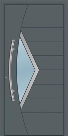 דלת כניסה 1757-RAL-7012 - טקני דור