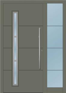 דלת כניסה 1240-MISO-RAL-7003 - טקני דור