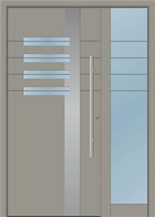 דלת כניסה 1205-MISO-RAL-7030 - טקני דור