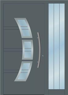 דלת כניסה 1200-NEW-RAL-7012 - טקני דור