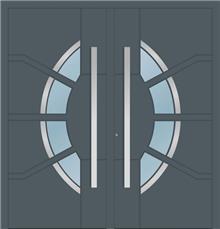 דלת כניסה 1767-2-FYLLA-RAL-7011-a - טקני דור