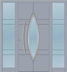 דלת כניסה 1752-2-MISA-RAL-7040