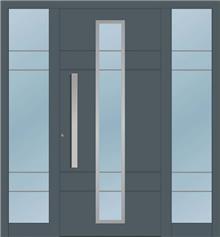 דלת כניסה 1225-2-MISA-RAL-7011 - טקני דור