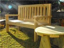 ספסל מעץ דגם תאיר - GARDENSALE