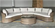 פינת ישיבה אובלית מפוארת מראטן דגם ויקי - GARDENSALE