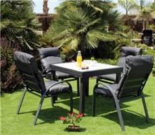 שולחן אלומניום קווין + כסאות נועה - GARDENSALE