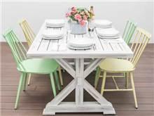 שולחן אוכל אלומיניום עם 6 כיסאות - רטרו - GARDENSALE