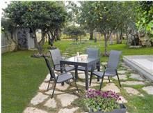 שולחן אלומניום + 4 כסאות סלין - GARDENSALE