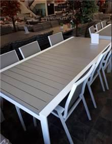 שולחן אלומיניום + 6 כסאות - GARDENSALE