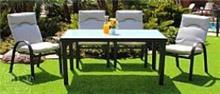 פינת ישיבה + 4 כסאות נועה - GARDENSALE