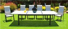 שולחן + 6 כסאות בלאק - GARDENSALE