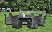 סט שולחן + 6 כסאות ראטן גל - GARDENSALE