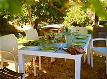 שולחן מלודי + 6 כיסאות באלי - GARDENSALE