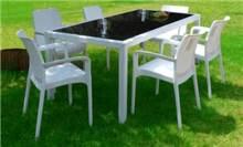 שולחן אופרה + 6 כיסאות באלי - GARDENSALE