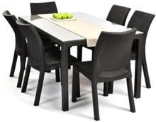 שולחן אופרה + 6 כיסאות טוסקנה - GARDENSALE