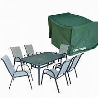 כיסוי סט שולחן מלבני +6 כסאות - GARDENSALE