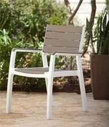 6 כיסאות כתר דגם הרמוני עם ידיות - GARDENSALE