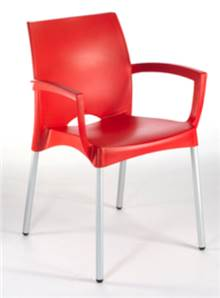 6 כיסאות פלסטיק נפטון - GARDENSALE