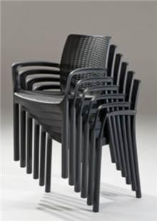 6 כסאות באלי פלסטיק - GARDENSALE