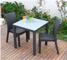 4 כיסאות כתר פלסטיק מילאנו - GARDENSALE