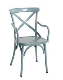 כיסא אלומיניום דגם וינטג' עם ידיות - GARDENSALE