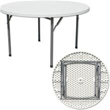 שולחן פלסטיק עגול מתקפל לגינה - GARDENSALE