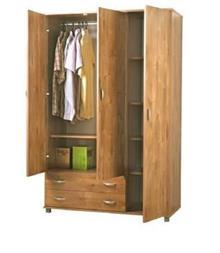 ארון בגדים קלאסי 3 דלתות דגם 607 רהיטי יראון - GARDENSALE