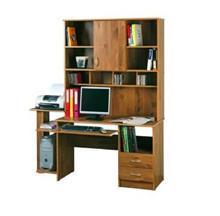 שולחן מחשב עם ספריה דגם 220 - GARDENSALE