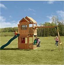 מתקן משחקים לחצר דגם מבצר הענקים