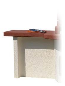 תוספת שולחן צד למנגל בנוי