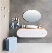 ארון אמבטיה רטרו בשילוב פורניר