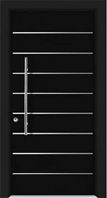 דלת שריונית 8001 כהה - אינטרי-דור דלתות פנים וחוץ