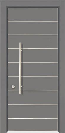 דלת שריונית 8001 אפורה