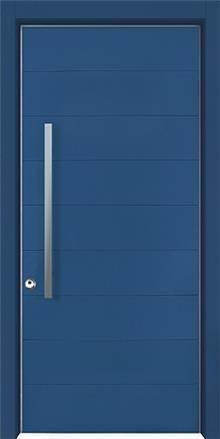 דלת שריונית 8002 כחולה - אינטרי-דור דלתות פנים וחוץ