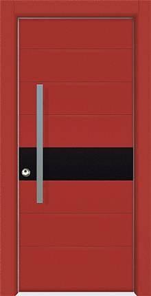 דלת שריונית 8004 אדומה - אינטרי-דור דלתות פנים וחוץ
