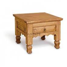 שולחן סייד עשוי עץ אורן - הגלריה המקסיקנית