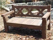 ספסל עץ גב X - הגלריה המקסיקנית