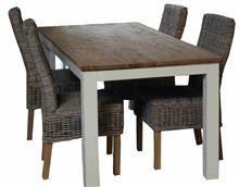 שולחן רגלי עץ לבנות - הגלריה המקסיקנית