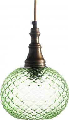 מנורה לתלייה מזכוכית AM264 ירוק