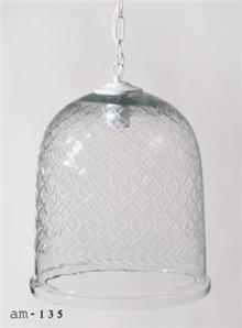 מנורה דגם פעמון זכוכית - תמי ורפי תאורה מעוצבת