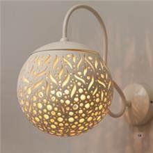 מנורה דגם קרמיקה קיר כיפה בדולח