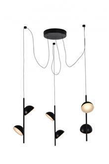 מנורה תלויה 60W LED שלישיה - תמי ורפי תאורה מעוצבת