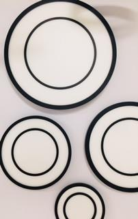 צמוד תקרה 50W LED טבעת שחור
