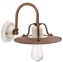 מנורת קיר חלודה קוטר 25 E-27