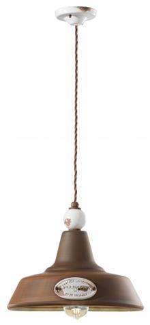 מנורת תליה חלודה E-27 - תמי ורפי תאורה מעוצבת