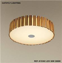 מנורת תקרה 36W LED עץ - תמי ורפי תאורה מעוצבת